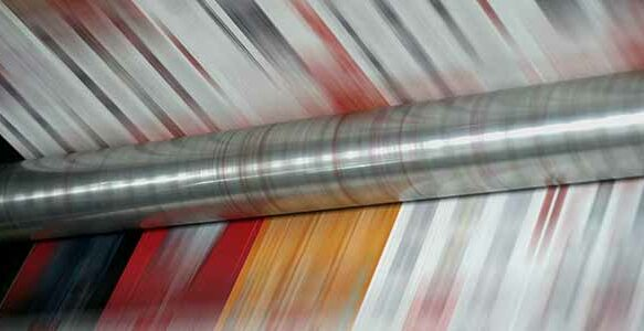 Web press printing